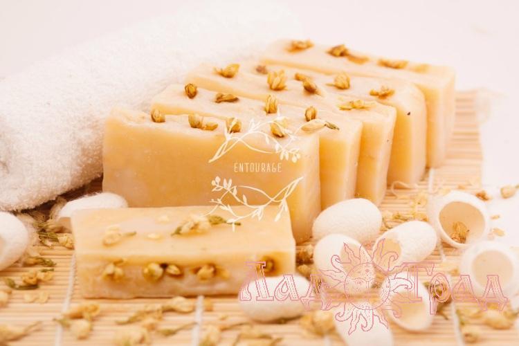 Природное мыло Королевский жасмин (с шелком)_1