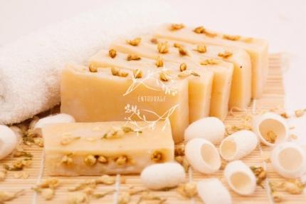 Природное мыло Королевский жасмин (с шелком)