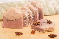 Природное мыло Красная и розовая глина