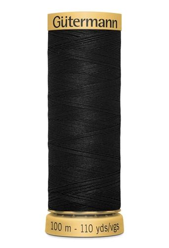Нитки Гутерманн, х/б 100%, 100 м (5201) чёрные