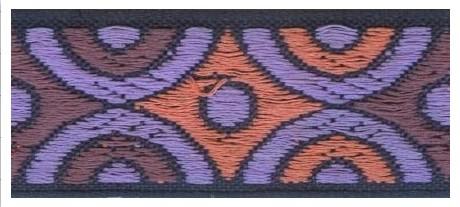 Тесьма жаккардовая 1461 фиолетовый, 25 мм