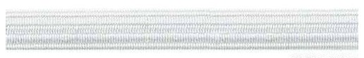 Тесьма эластичная (резинка) белая, 7 мм