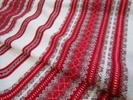Ткань узорная Самобранка красная