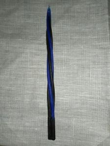 Свеча восковая волшебная сине-чёрная (4 в 1)