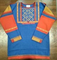 Рубаха мужская синяя