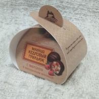 Мягкий кедровый грильяж с малиной, Территория тайги, сундучок с 1 конфетой, 15 гр