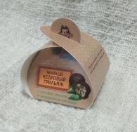Мягкий кедровый грильяж с сосновой шишкой, Территория тайги, сундучок с 1 конфетой, 15 гр