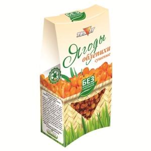 Ягоды ОБЛЕПИХИ сушёные (дроблёные), 50 гр