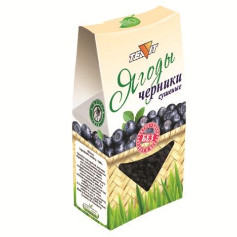 Ягоды ЧЕРНИКИ сушёные (дроблёные), 50 гр