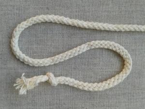 Шнур белый, х/б 100%, 5 мм