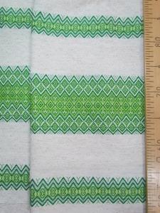 Ткань узорная Забава зелёная_0