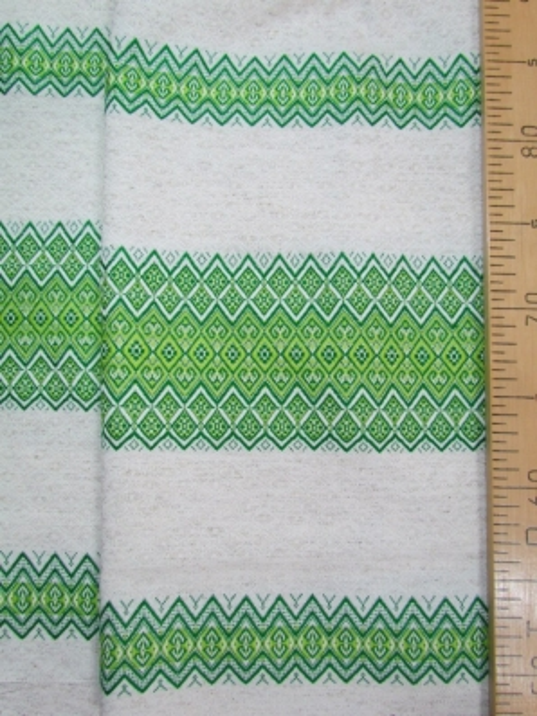 Ткань узорная Забава зелёная
