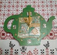 Новогодний чайник (часы)