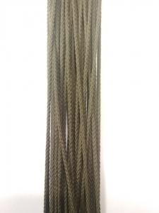 Шнур отделочный шёлковый, оливковый, 3 мм_1