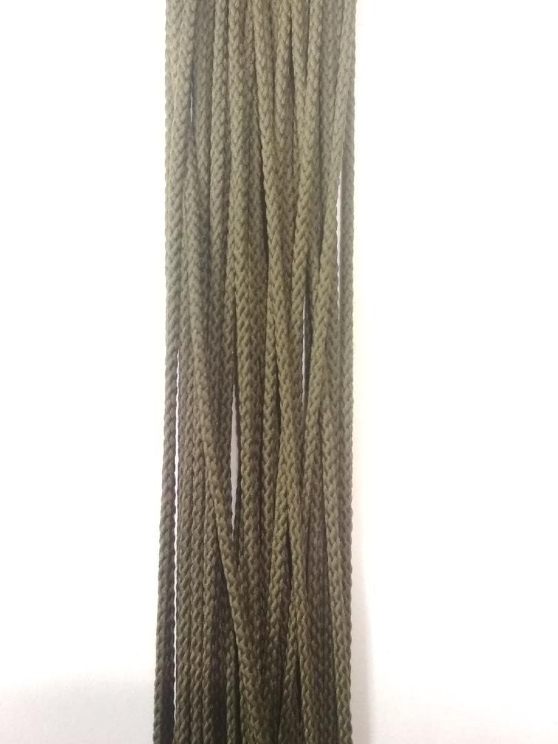 Шнур отделочный шёлковый, оливковый, 3 мм