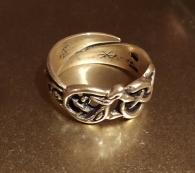 Кольцо с драконами, безразмерное