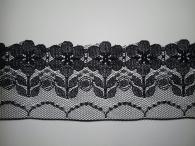 Кружево черное синтетика Цветок, 6см