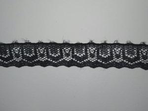 Кружево черное синтетика 1,5см