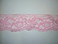 Кружево розовое синтетика 5,5см