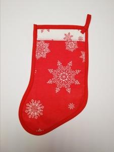 Сапожок новогодний  красный с белым для подарка