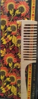Расчёска сувенирная деревянная с ручкой