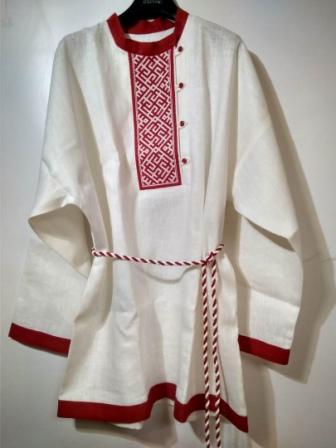 Рубаха мужская хлопковая белая