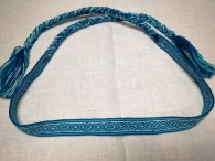 Очелье Крест-ромб голубой с белым
