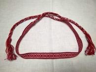 Очелье Крест-ромб красно-бордовый с белым