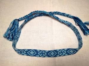 Очелье Одолень-трава сине-белый
